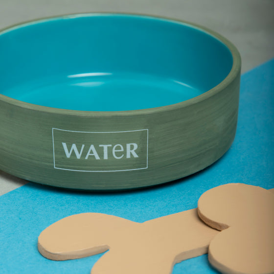 Glacier Blue Water Bowl