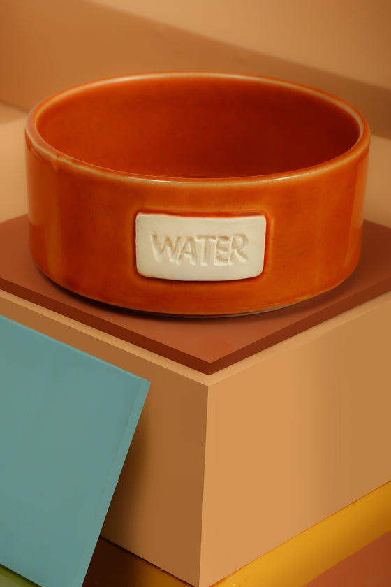 Tangerine Water Bowl