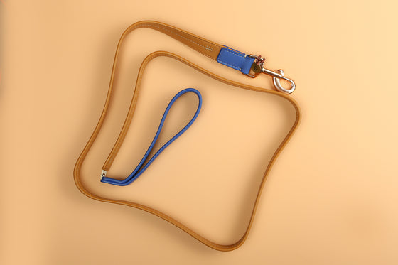 Fudge & Nautica Blue Two-Tone Leash