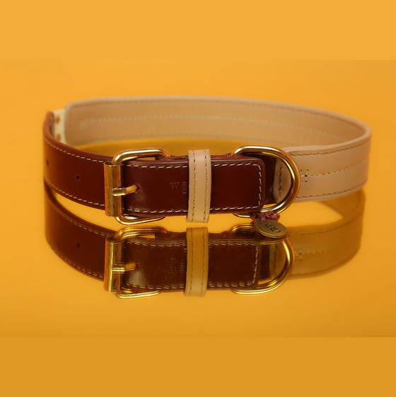 Mulberry & Vanilla Two-Tone Collar