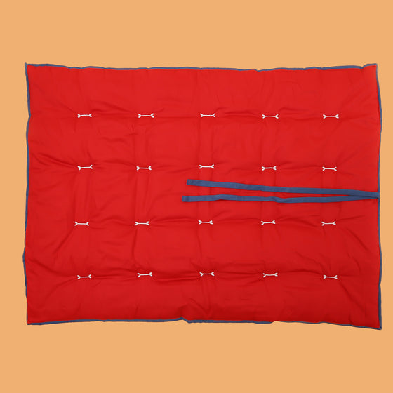 Ruby Red & Cobalt Blue Reversible Bed