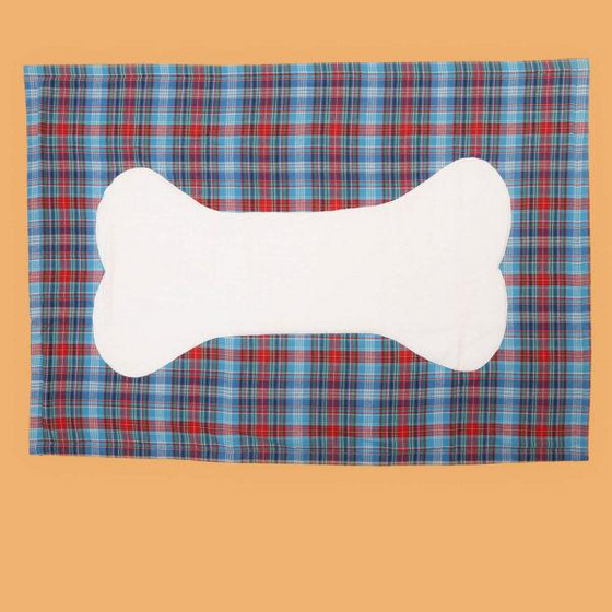 Old-School Plaid Bone Patch Towel