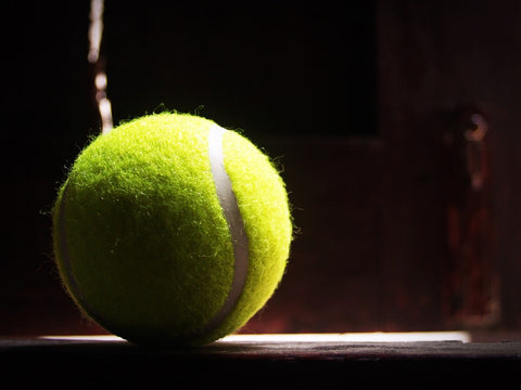 tennis ball for a back massage