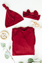 Load image into Gallery viewer, Maroon Knotted Gown