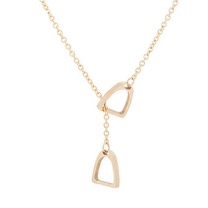 Lucky Double Stirrup Necklace - SafeStallion