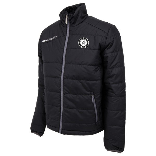 Black Stars Bauer Flex Bubble Jacket Black With Black Stars Circle Logo