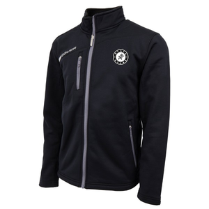 Black Stars Bauer Flex Full Zip Tech Fleece Jacket Black With Black Stars Circle Logo