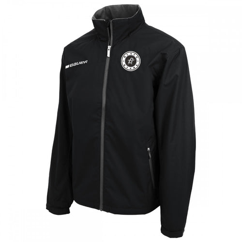 Black Stars Bauer Flex Team Warm-Up Suit Jacket Black With Black Star Circle Logo and Player Personalization