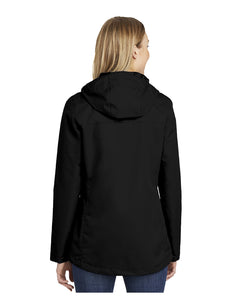 "Black Stars Port Authority® Ladies All-Conditions Jacket Black With Embroidered Black Stars ""B"" Logo (L331)"