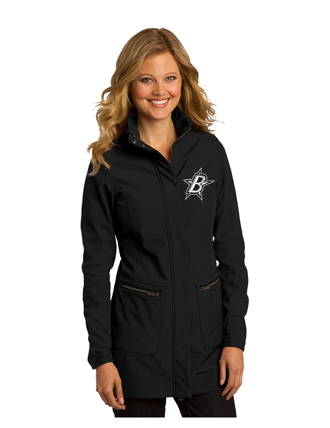 Black Stars OGIO® Ladies Intake Trench Black With Black Stars