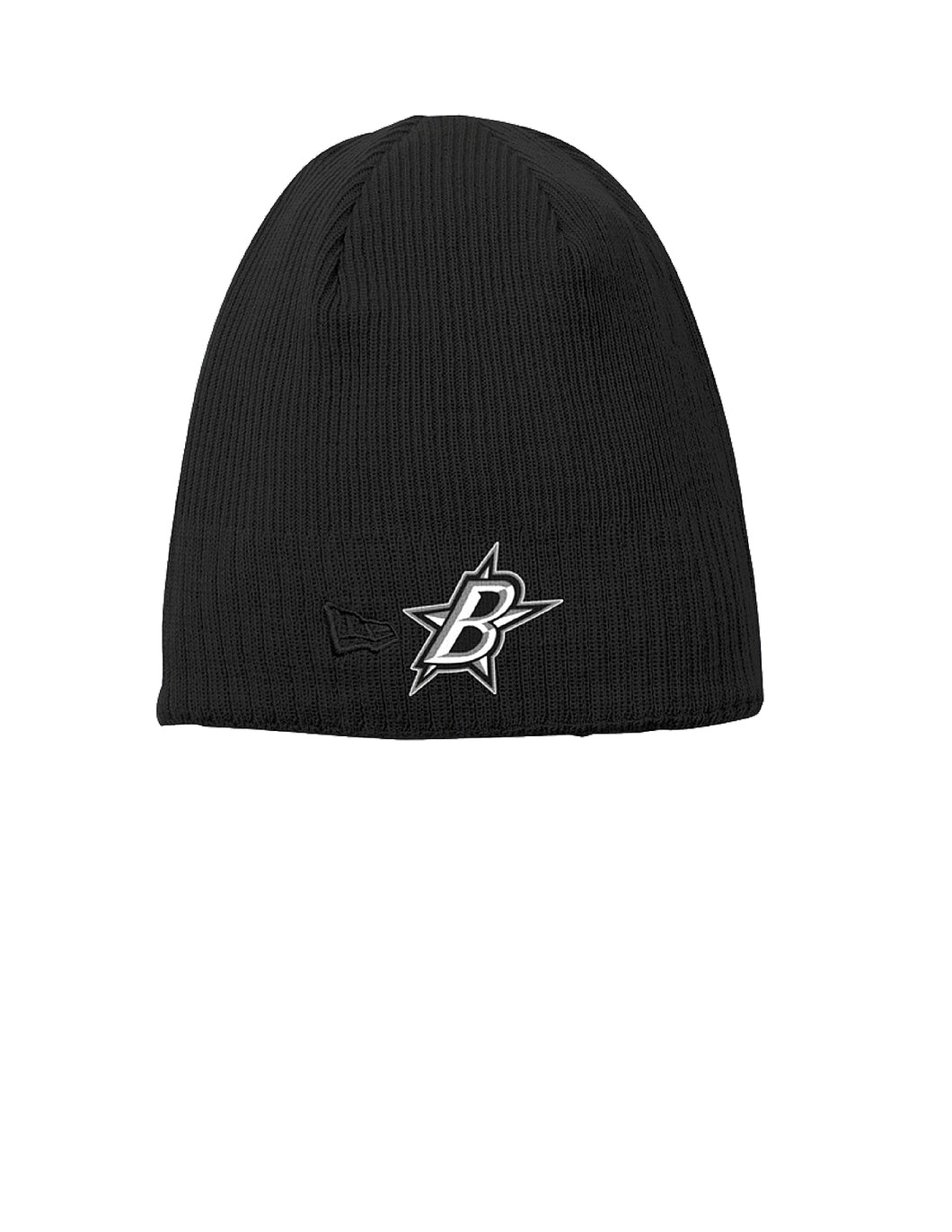 Black Stars New Era® Knit Beanie Black with Black Stars