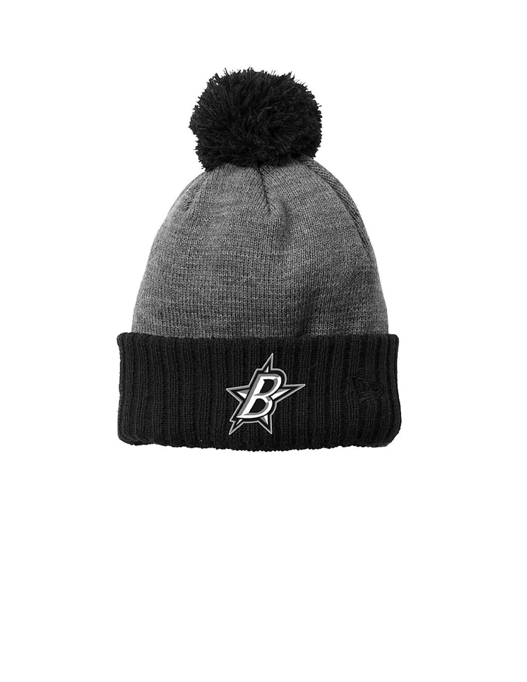 Black Stars New Era ® Colorblock Cuffed Beanie Black/Grey with Black Stars