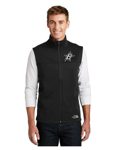 "Black Stars Black Stars The North Face® Ridgeline Soft Shell Vest Black With Black Stars ""B"" Logo (NF0A3LGZ)"
