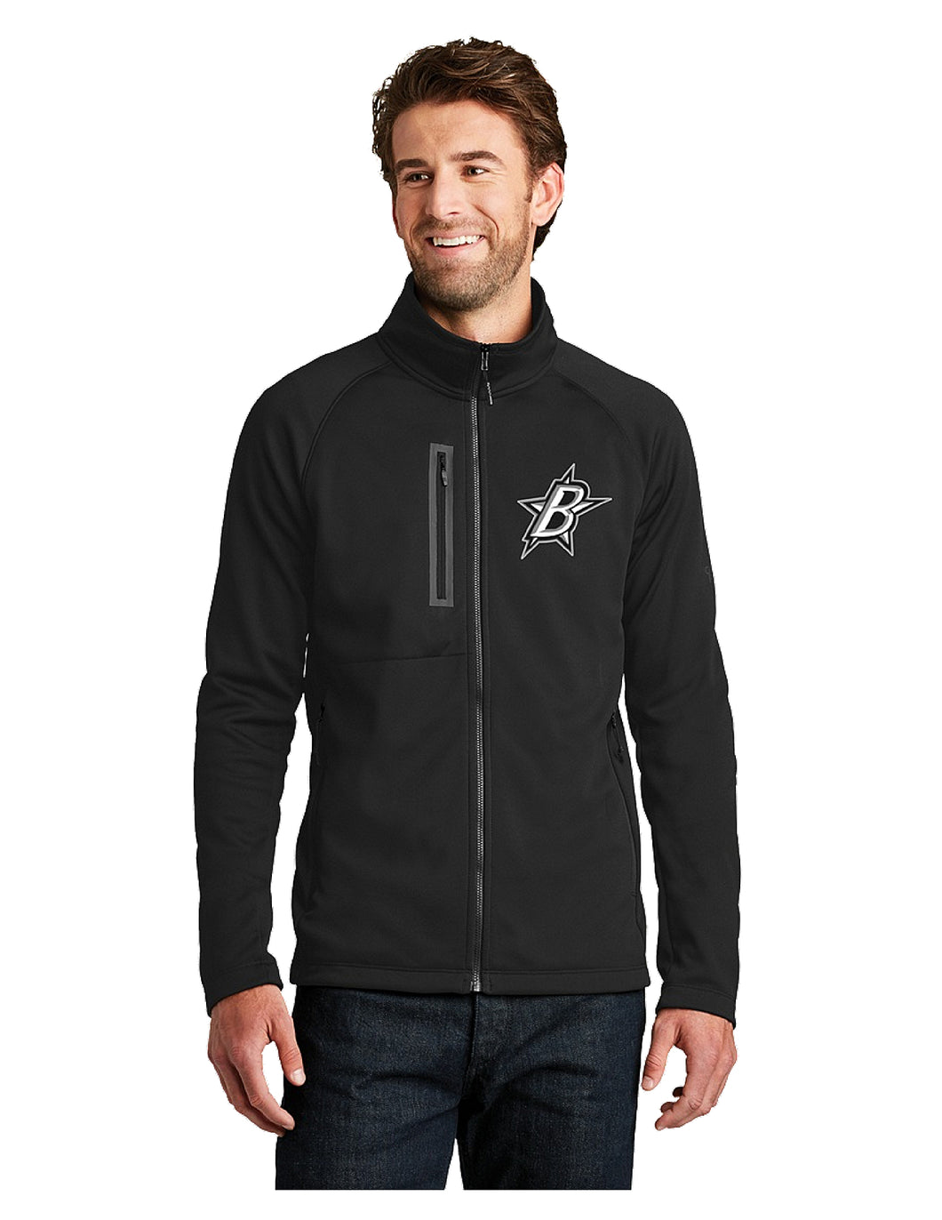 Black Stars The North Face® Canyon Flats Fleece Jacket Black With Black Stars