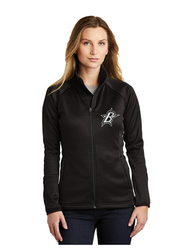 Black Stars The North Face® Ladies Canyon Flats Stretch Fleece Jacket Black With Black Stars