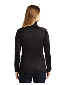 "Black Stars The North Face® Ladies Canyon Flats Stretch Fleece Jacket Black With Black Stars ""B"" Logo (NF0A3LHA)"