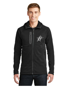 "Black Stars The North Face® Canyon Flats Fleece Hooded Jacket Black With Black Stars ""B"" Logo (NF0A3LHH)"
