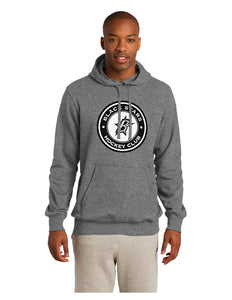 Black Stars Sport-Tek® Pullover Hooded Sweatshirt Vintage Grey With Black Stars Hockey Club Logo (ST254)