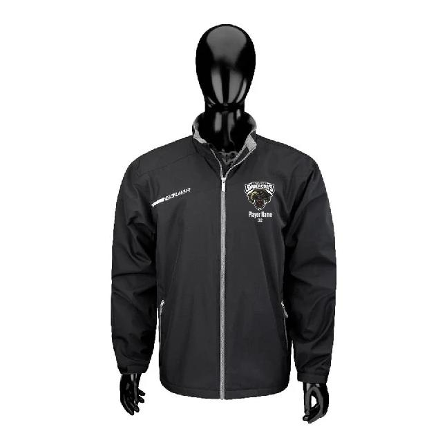 Sabercats Bauer Flex Team Warm-Up Suit Jacket Black With Embroidered Sabercats Head Logo