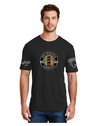 Sabercats District ® Perfect Blend ® Tee Black with Three Sabercats Logos