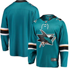 Load image into Gallery viewer, San Jose Sharks Men's Fanatics Replica Sharks Jersey Blank
