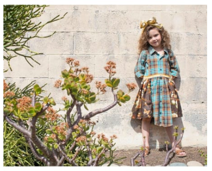 Recycled Button-up Dress- Eco-friendly Kids