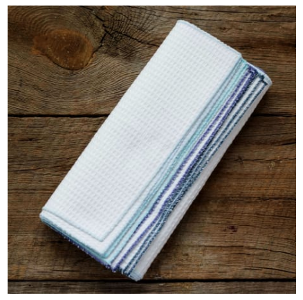 Unpaper Towels, Reusable Kitchen Cloths, set of 12- Eco Friendly, Zero Waste, Sustainable