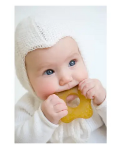 Natural Rubber Teether Toy Star- Plastic Free, Eco-friendly, Zerowaste