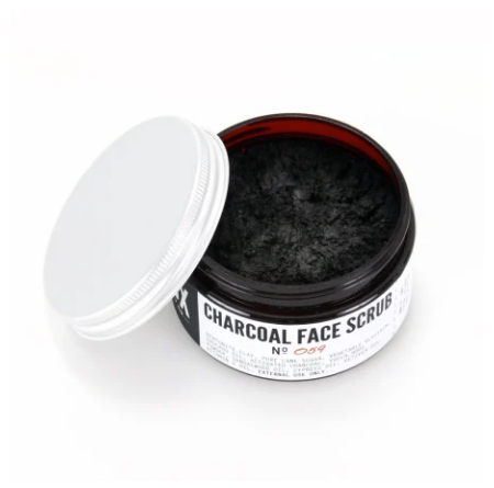 Unisex Charcoal Face Scrub- Natural, Eco-friendly