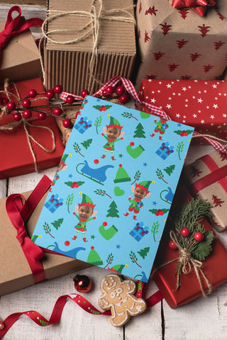 Personalized Christmas Wrapping Paper: Elf Theme