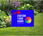 Custom Yard Signs, Lots of 10, 20, 50 or 100. Full COLOR, Single Sided, Stake Included