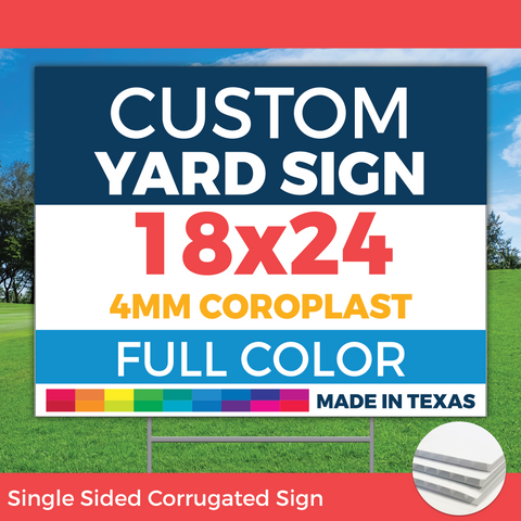 "24""x18"" Corplast Sign with H-Stake - Qty 10 - Yard Signs"