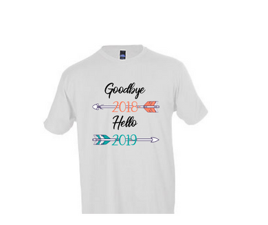 New Year 2019 T Shirt: Hello 2019
