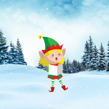 Christmas ELF  Yard Decoration, Style B, Includes Stake