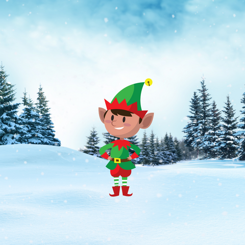 Christmas ELF  Yard Decoration, Style D, Includes Stake