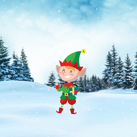 Christmas ELF  Yard Decoration, Style E, Includes Stake