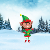Christmas ELF  Yard Decoration, Style G, Includes Stake