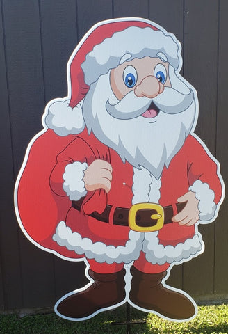 "Large Santa 45""x62"" Yard Decoration Sign. Christmas Yard Sign"