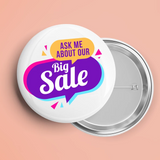 3 Inch Custom Buttons Full Color - Qty of 10