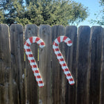 2 Candy Canes Yard Signs and Christmas Decoration