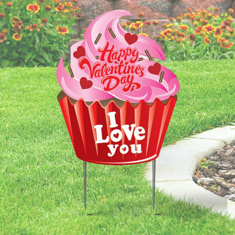 Valentine Cupcake Yard Sign