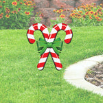 Candy Cane Yard Sign Cutout-24x18, printed on coroplast Christmas Yard Decorations
