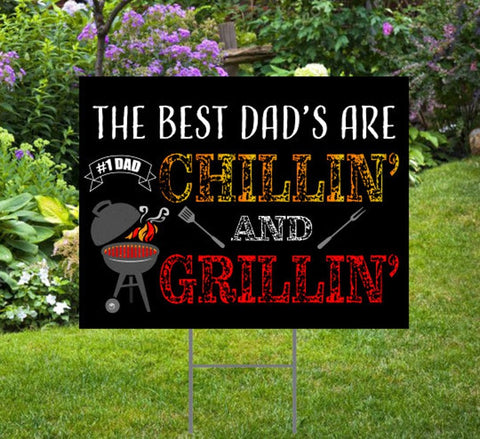 Father's Day Yard Sign, BBQ Style