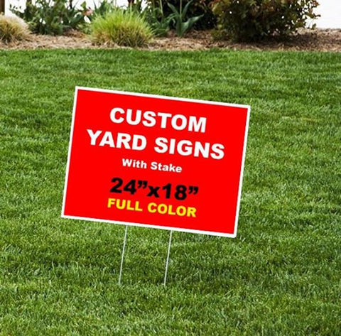 "Happy Birthday Custom Yard Sign 24""x18"""