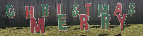 MERRY CHRISTMAS Cut out letters 2ft High, Coroplast