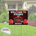 Happy Birthday Yard Sign -Poker Theme