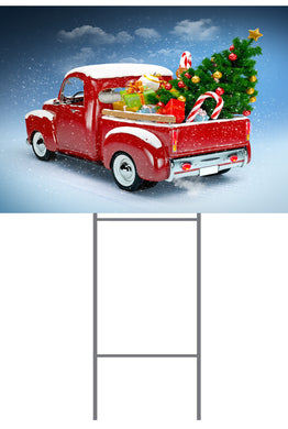 Christmas Truck Corplast Sign