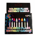 12pcs/box Multicolour Flame Candles