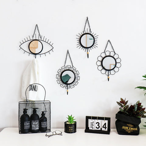 Creative Metal Hanging Decorative Mirror
