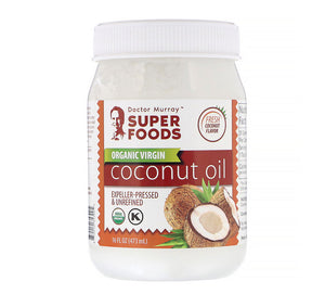 Dr. Murray's, Organic Virgin Coconut Oil, Expeller-Pressed & Unrefined, 16 fl oz (473 ml)